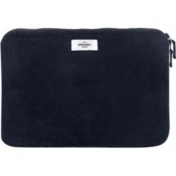 Laptop sleeve in dark blue corduroy