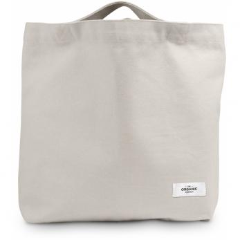 Organic bag in stone cotton
