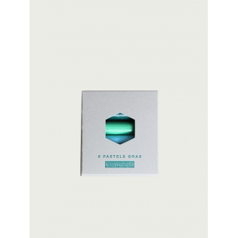Pack of 6 pastels, cold colors
