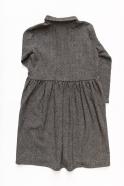 Shirt-dress, herringbone wool drap