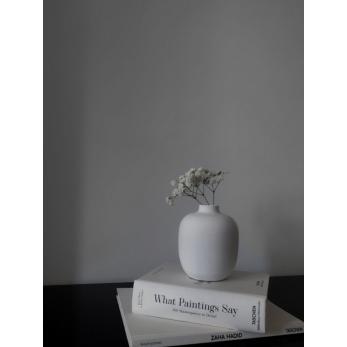 Vase 05, white ceramic