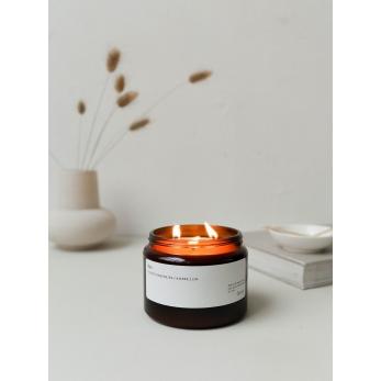 Bougie 890 : Fleur d'Edelweiss / Ambre / Lin