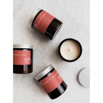 Scented candle FRESH : Linen / Cotton / Vetiver / lemon *