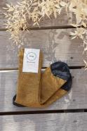 Two-tone wool socks, mustard