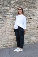Claudine shirt, white linen