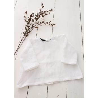 Long sleeves blouse, white linen