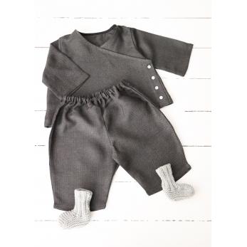 Classic trousers, dark herringbone