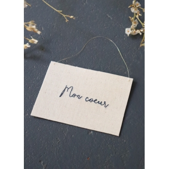 """Embroided words """"Mon coeur"""""""