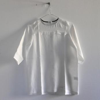 Robe droite en lin blanc - VDJ pour Noel