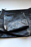 pochette avec fond en cuir noir, taille 1 – VDC pour la Liane