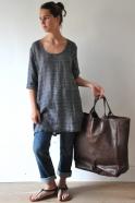 brown leather bag, size 3, VDC for la Liane
