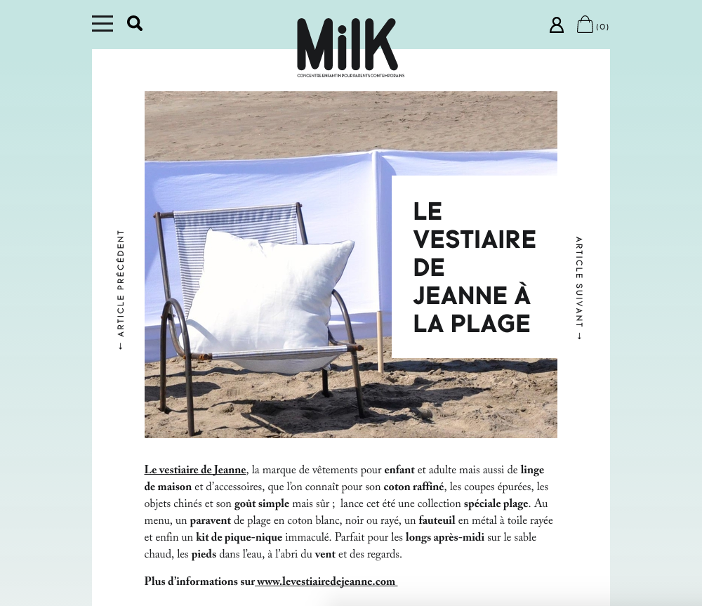 Milk magazine, juin 2014