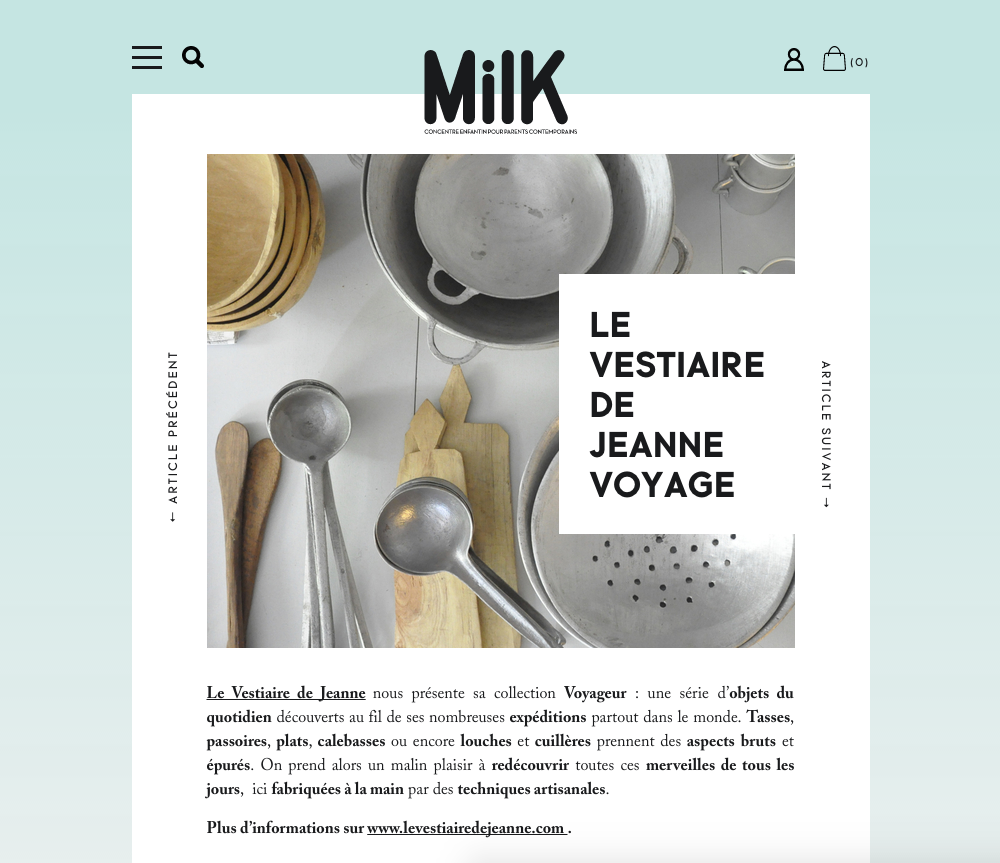 Milk magazine, avril 2014